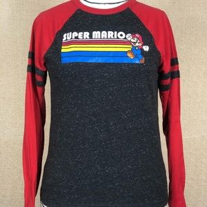 Nintendo Mario Brothers Youth Large Jersey Tee